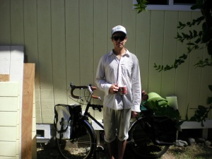 Julian Wong 6/17 outside of the casita I built for my mom