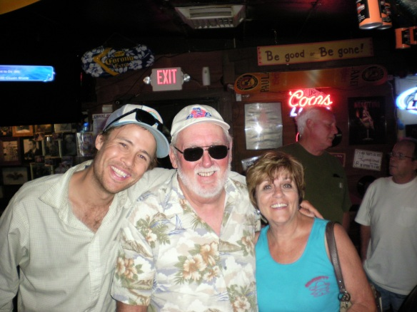 My new friends Wayne and Barb good times at the Arrowhead pub in Congress