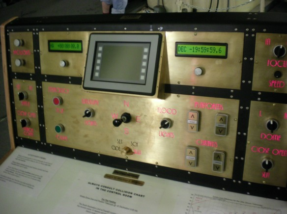 Telescope control panel McDonald observatory