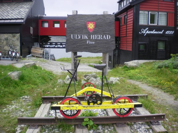 This popular vehicle is used by locals to transport supplies on the Rallarvegen railway