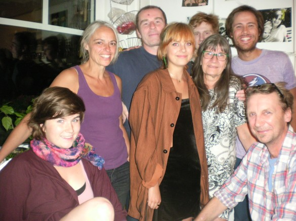 My Swedish family, from left, Mira, Petra, Martin, Nia, Mons, Maria and Johanes
