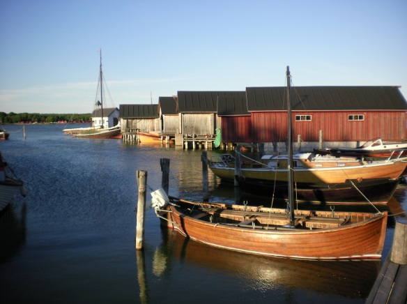 Aland harbor is home to many old boats