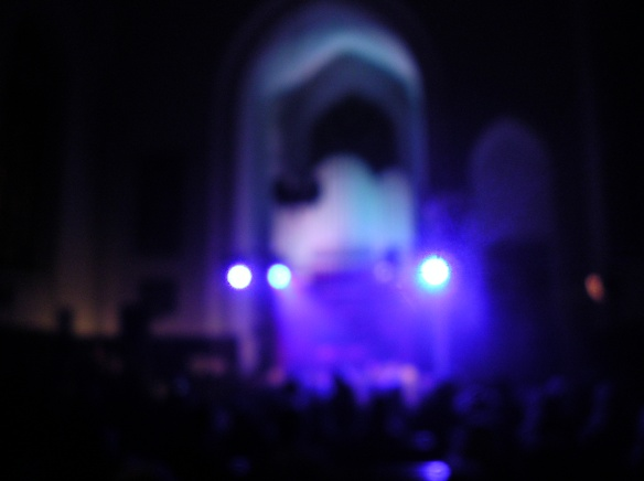 Gothic electro in an old Catholic church