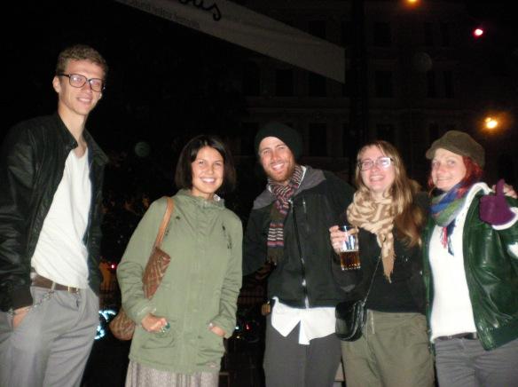 Carlos, Etnea, Marika, Innese. Canyape cultural center, Riga