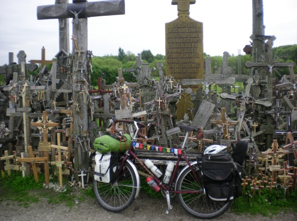 The famous hill of crosses, Sauili, Lithuania. The tap water tasted like sulfur!