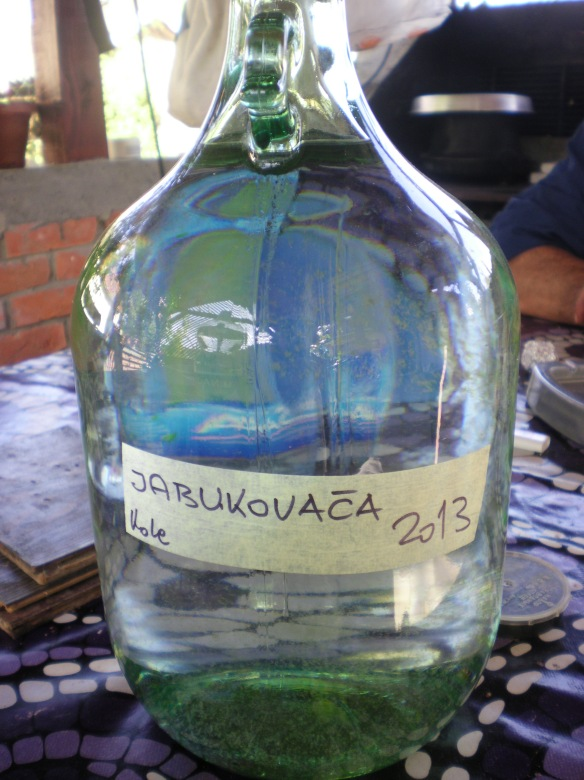 Jabukovaca, local distilled plum brandy