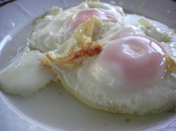 Breakfast of champions eggs fried in bacon fat