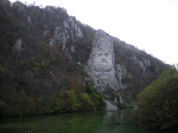 Statue of Decebalus, this momument took ten years and over a million dollars to build