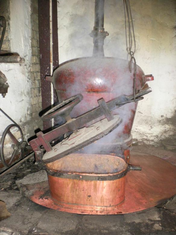 One of the three distills cranking out Rakija