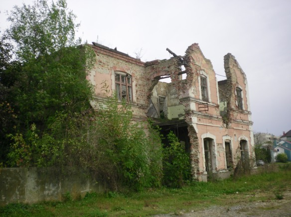 A catholic church destroyed in the war