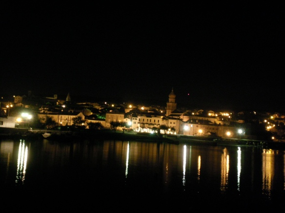 City of Krk at night