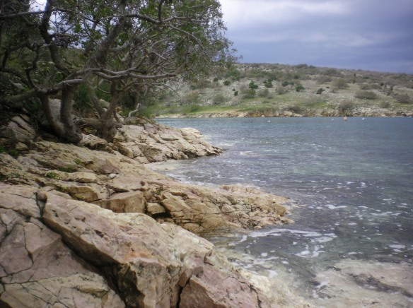 Deserted island beaches of Krk, Croatia