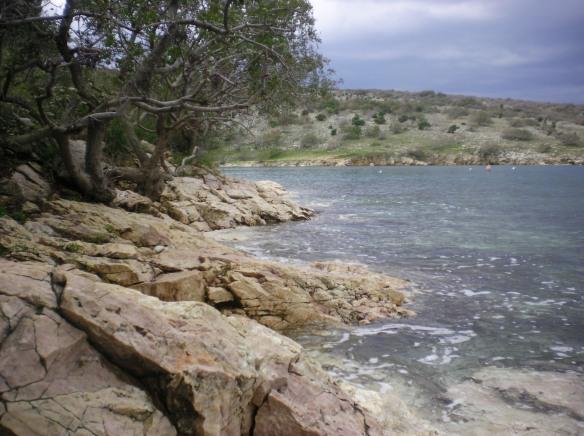 Deserted island beaches of Krk, Croatia