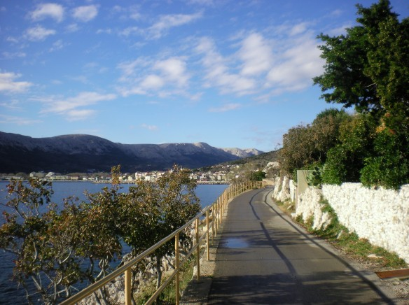 A few hours of respite from the rain, cycle path in Baska