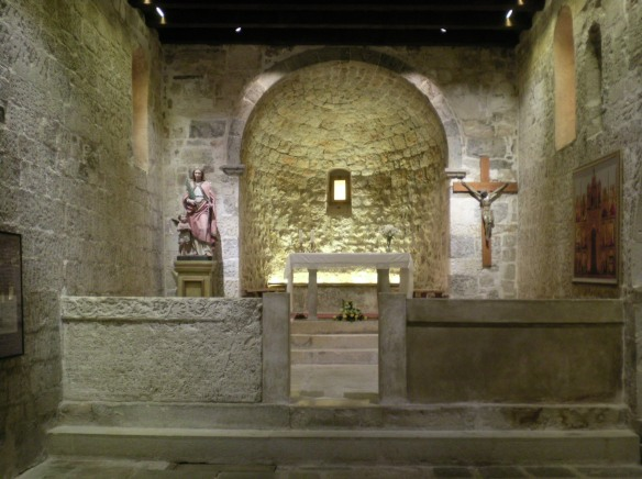 Church of St. Lucy, the  Baska tablet is on the left