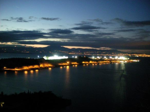 City lights across the Mediterranean