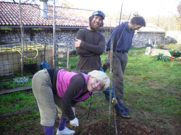 Ljuba and Nino planted an apricot tree in my honor