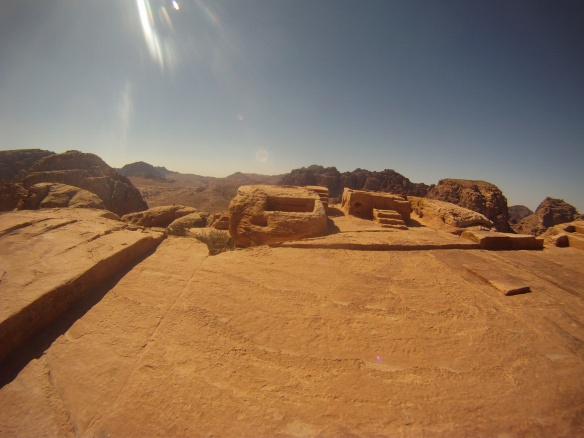 Sacred sacrificial alter at the top of a steep mountain, Petra
