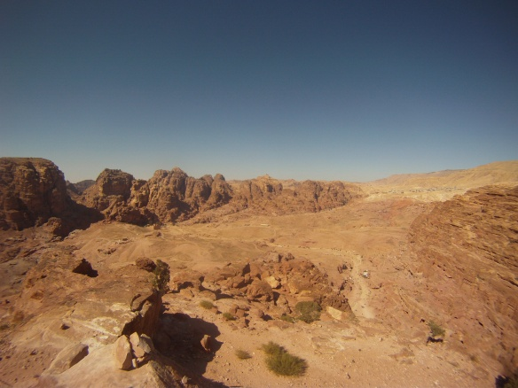 Petra birds eye view, the city once had a population of over 20,000