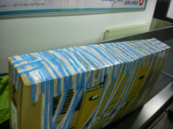 Three rolls of Turkish airlines sticky tape!