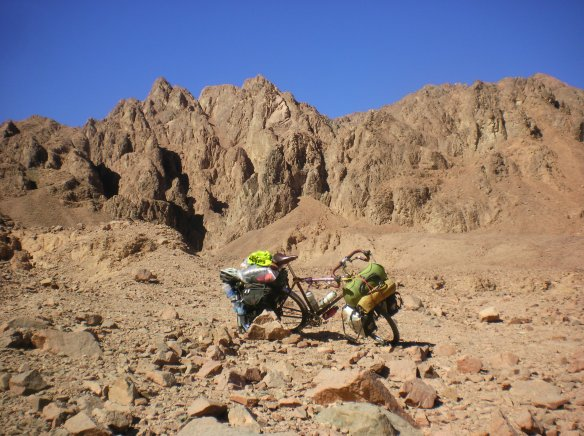 Riding and hiding on remote desert roads of the inner Sinai