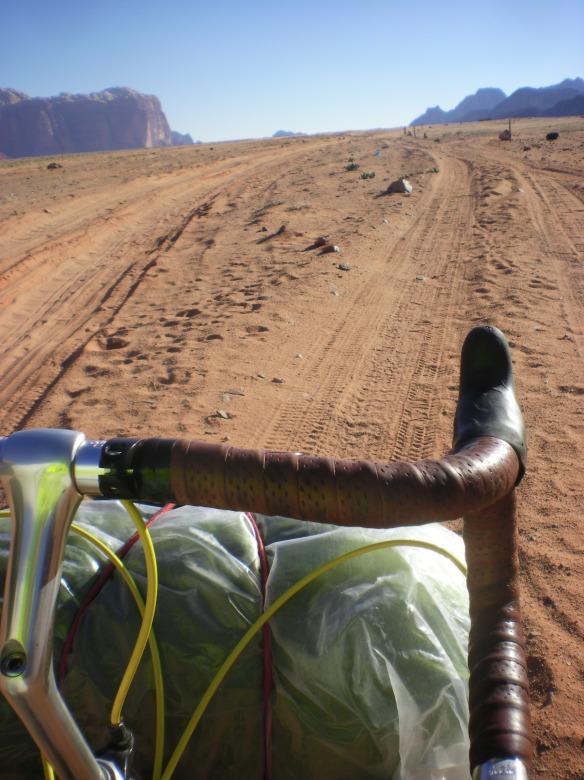 Long sandy stretches, Wadi Rum
