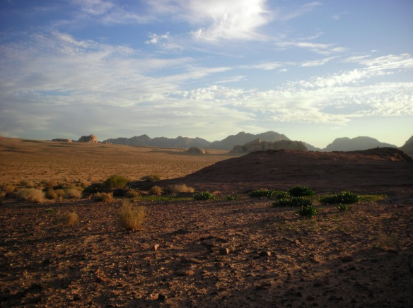 Quiet, lonely desert, Wadi Rum