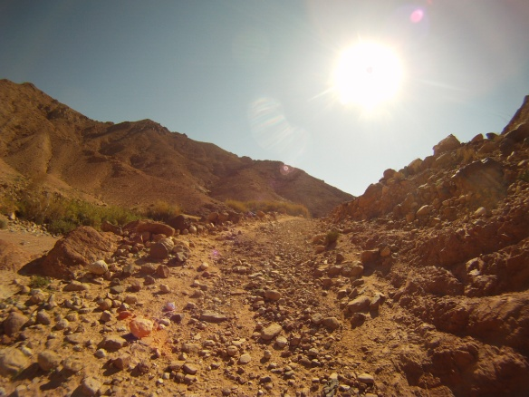 Rough segments on the trail to Feynan village