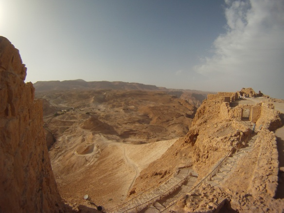 Ancient Mountain city of Masada, this is the location where the Romans lay siege to the city
