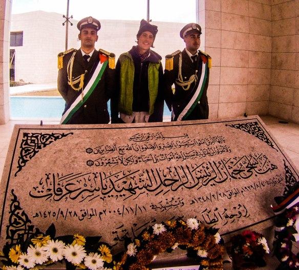Yasser Arafat mausoleum Ramallah, Palestine