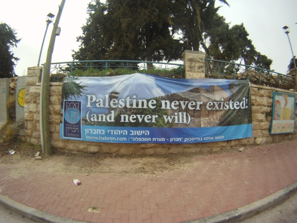 Banner in the Jewish Settlement, Hebron