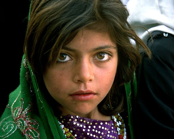 Pashtun looking girl in eastern Bosnia