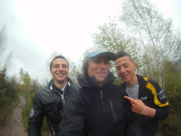 My Albanian Guides, just before crossing the barb wire fence into Kosovo