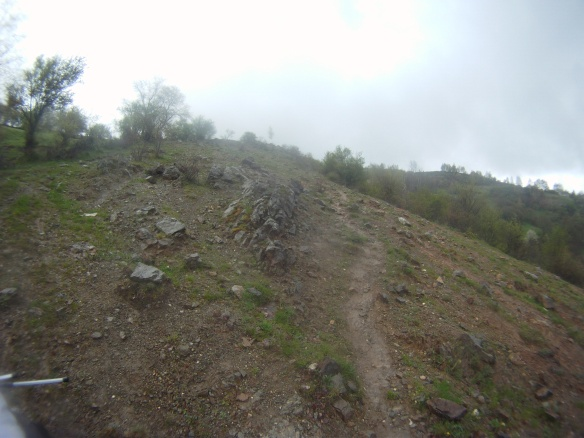The trail into Kosovo was more like backpacking than cycle touring