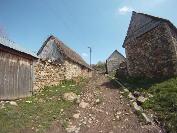 Downtown Novosej village Albania