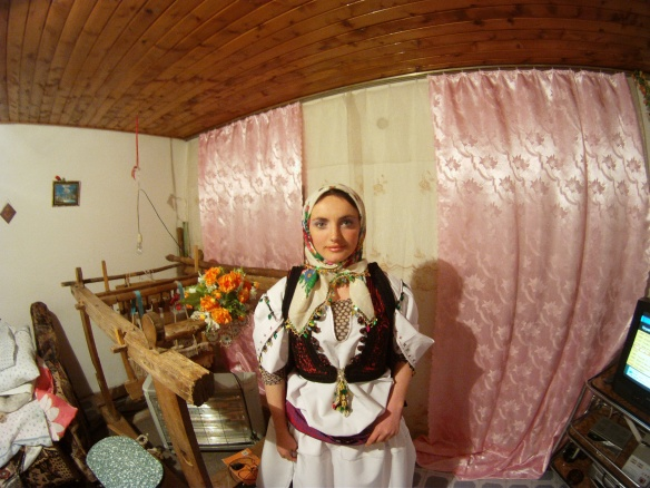 Rilinda in traditional Albanian costume