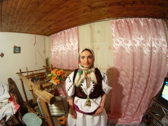 Rilinda in traditional Albanian costume