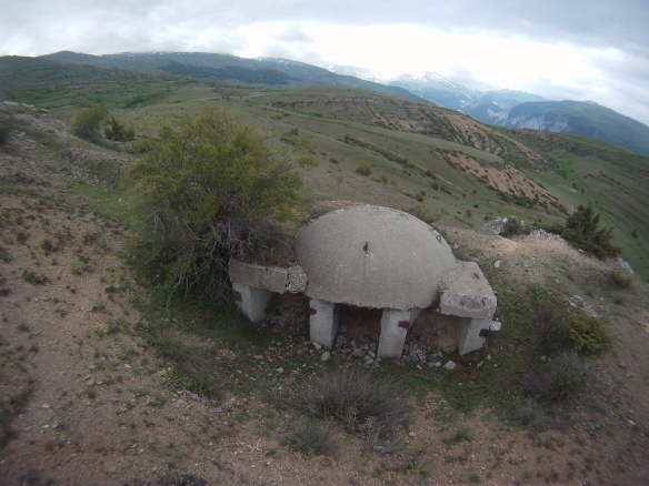 Albanian wartime concrete bunkers found throughout the Alps,