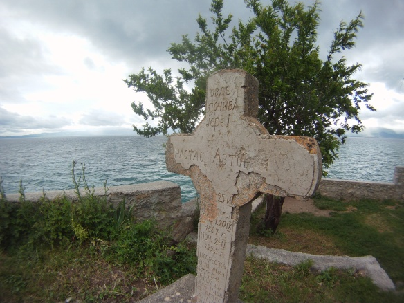 Lake side Christian graves