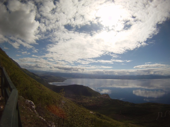 Ohrid lake, view after a 3,000 ft climb