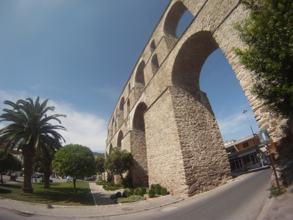 Arches of Kavala city, another beautiful Greek Mediterranean city
