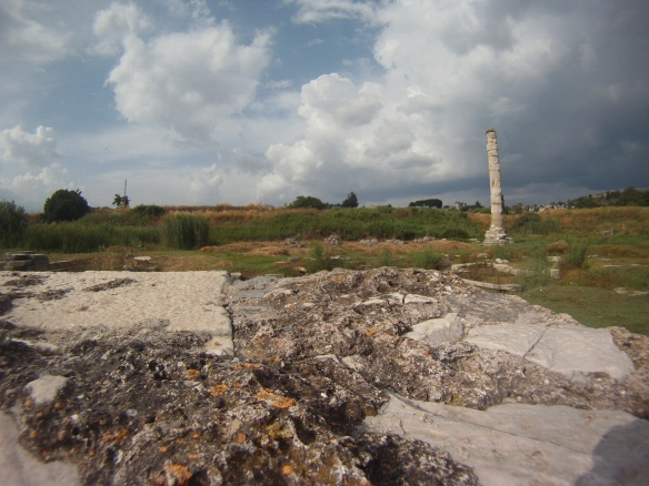 Last remaining pillar at the temple of Artemis, friend of Alexander the Great