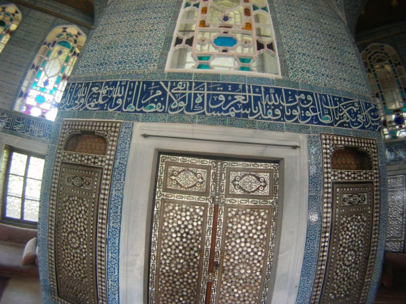 Ornate walls in the Topkapi palace, used by all Ottoman Sultans