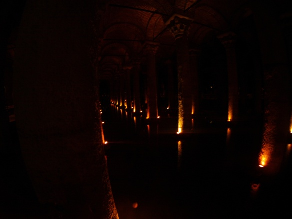 One of the many underground Cisterns built and engineered by the Ottomans
