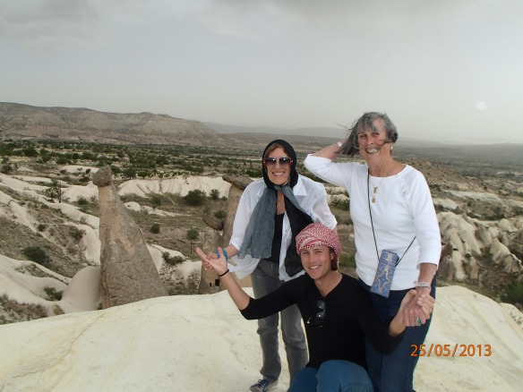 Barbara, Judy and I in the central Turkish desert