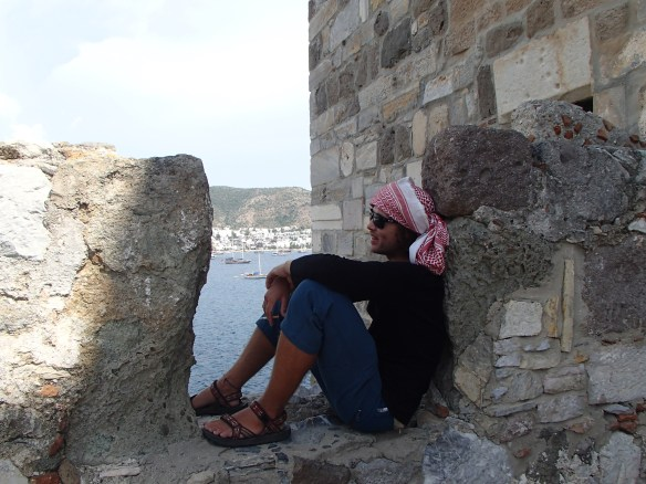 Lounging and unwinding at the Ottoman fortress in Bodrum