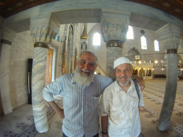 Richard with Imam in Lalei Camii