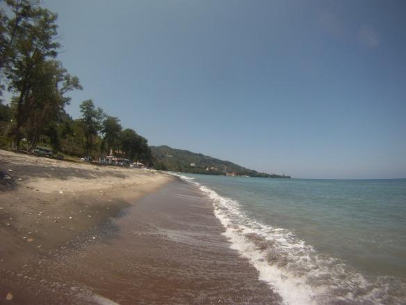 Desolate black sand beaches