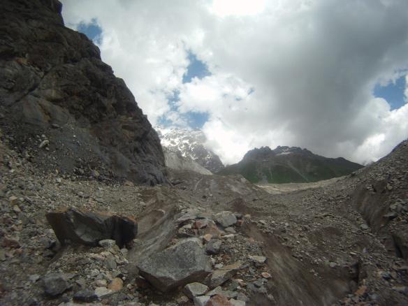 Rocky glacial trail