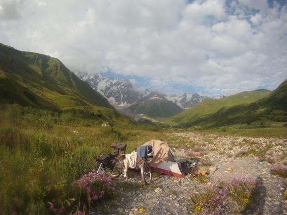 Glacial camp site
